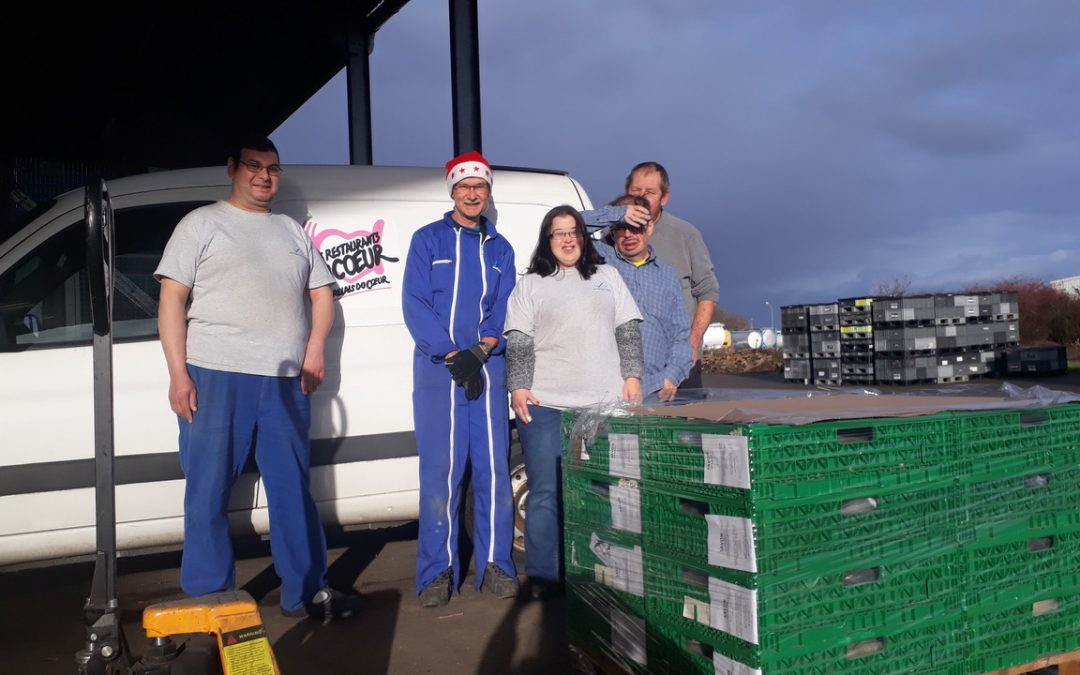 First delivery to the Restos du Coeur
