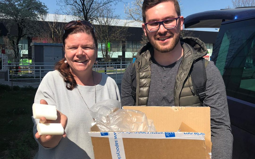 Our soaps arrived in refugee camps in Bosnia and Herzegovina