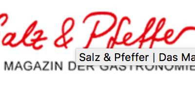 News – 19.11. 2019  Salz & Pfeffer on-line
