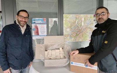 2'250 of our recycled soaps went to Aléos- au delà du logement Association.