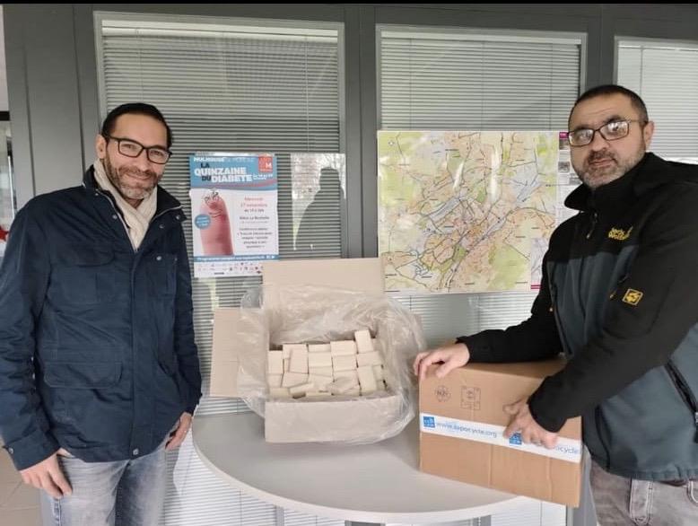 2'250 of our recycled soaps went to Aléos- au delà du logement Association.