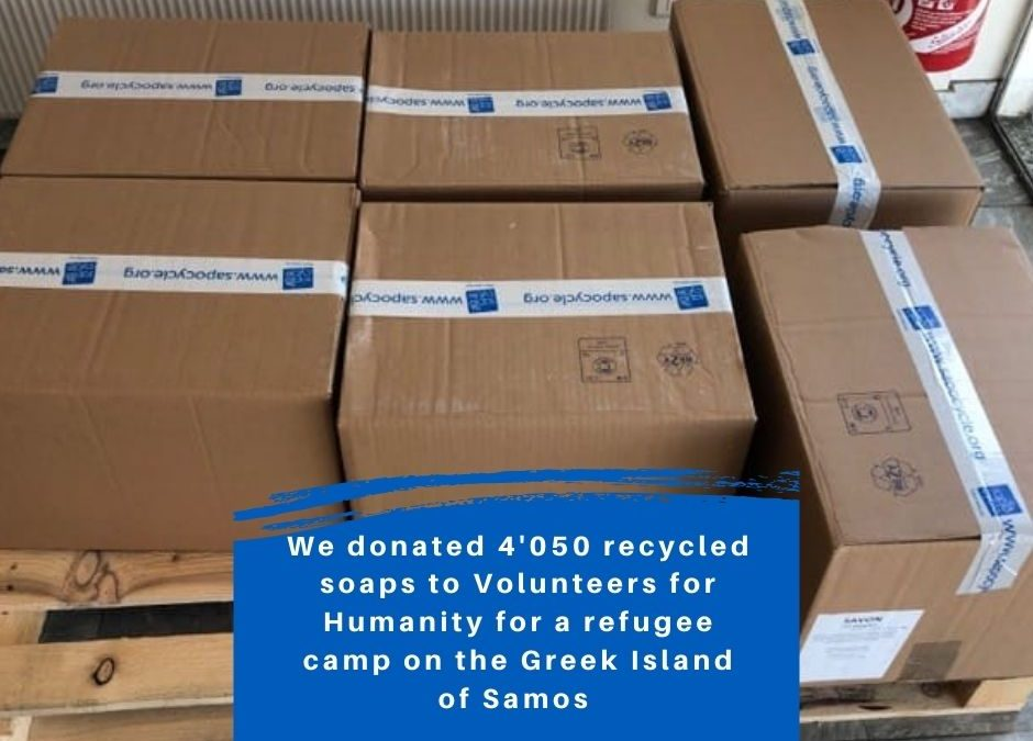 Our soaps reached so much needed people in refugee camps in Samos
