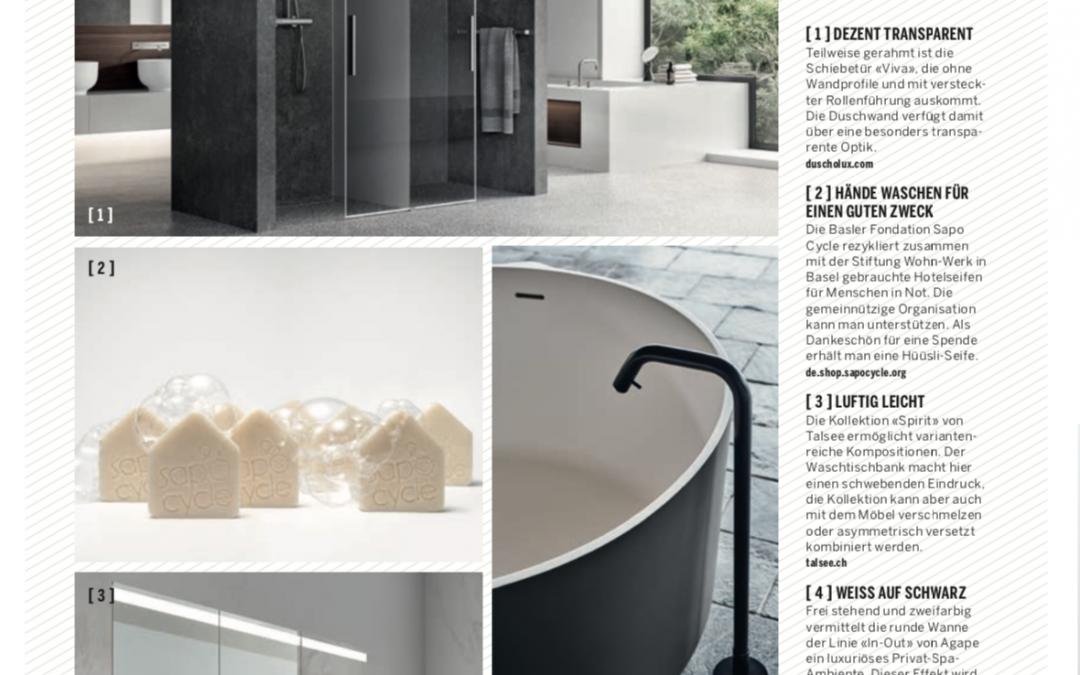 Our Hüüsli present in the Swiss Magazine Traumhaus