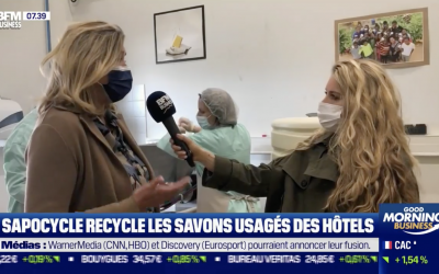 BFM Business Crew visits our recycling atelier in France