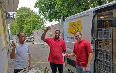 Die Schweizer Tafel verteilte unsere recycelten Hotelseifen in der Schweiz.